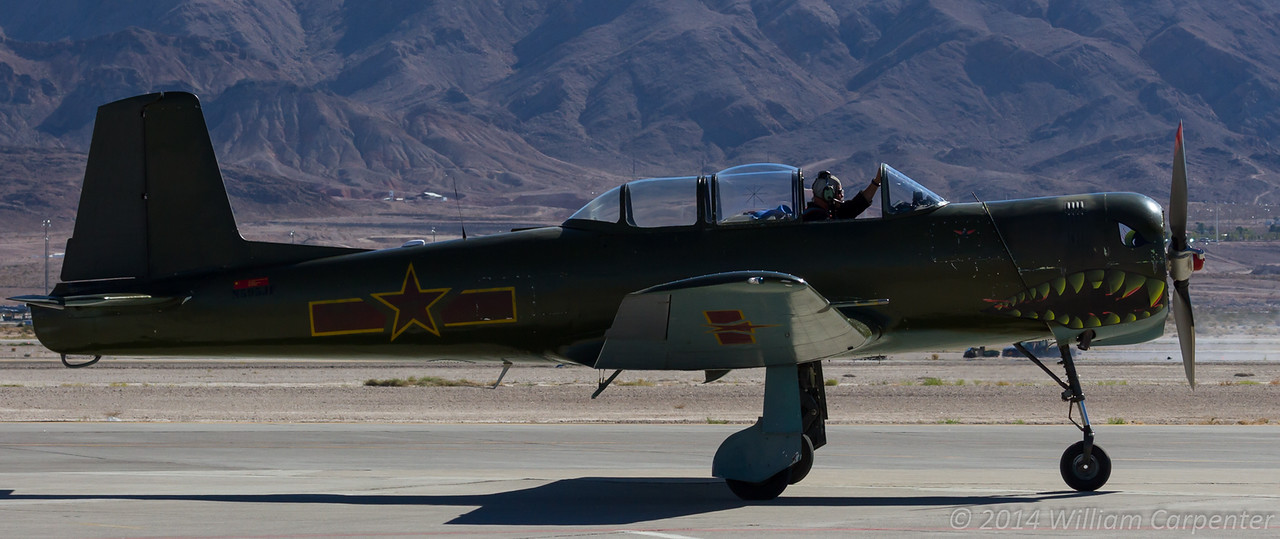 A Nanchang recovers after a solo aerobatic display.